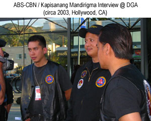 ABS-CBN KAPISANANG MANDIRIGMA ABS-CBN Television interview. 2003 ABS-CBN KAPISANANG MANDIRIGMA ABS-CBN Television interview. 2003