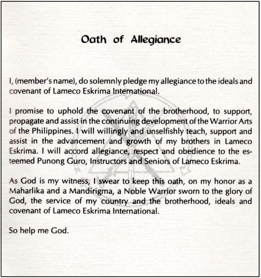 LAMECO OATH
