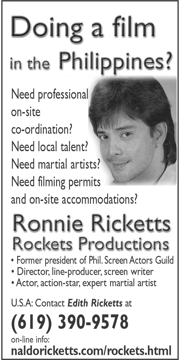 The Films of Bakbakan Philippines member Ronnie Ricketts and the